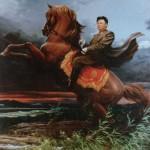Kim Jong Il on a Horse