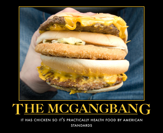 Mcdonalds gangbang burger